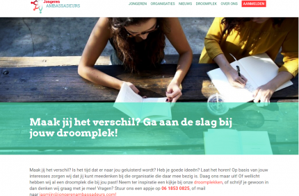 Website Jongerenambassadeurs