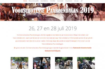 Website Voorschotense Paardendagen